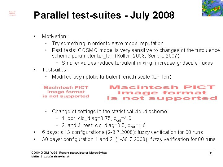 Parallel test-suites - July 2008 • • Motivation: • Try something in order to