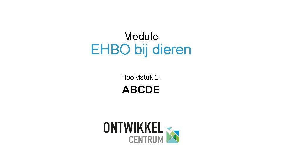 Module EHBO bij dieren Hoofdstuk 2. ABCDE