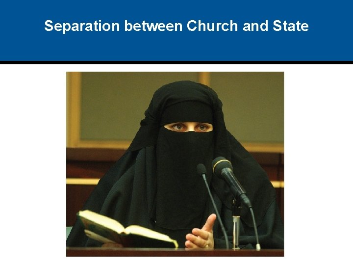 Separation between Church and State