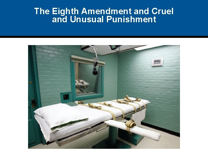 The Eighth Amendment and Cruel and Unusual Punishment