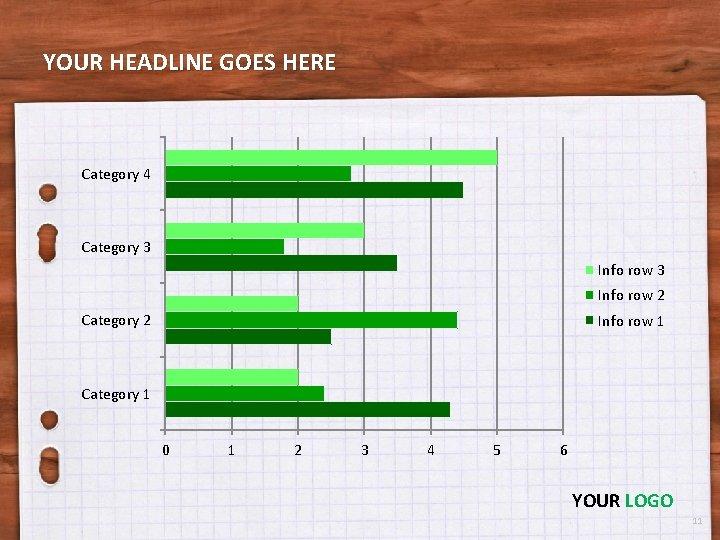 YOUR HEADLINE GOES HERE Category 4 Category 3 Info row 2 Category 2 Info