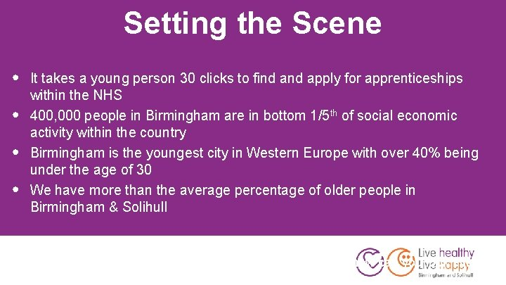 Setting the Scene • • • It takes a young person 30 clicks to
