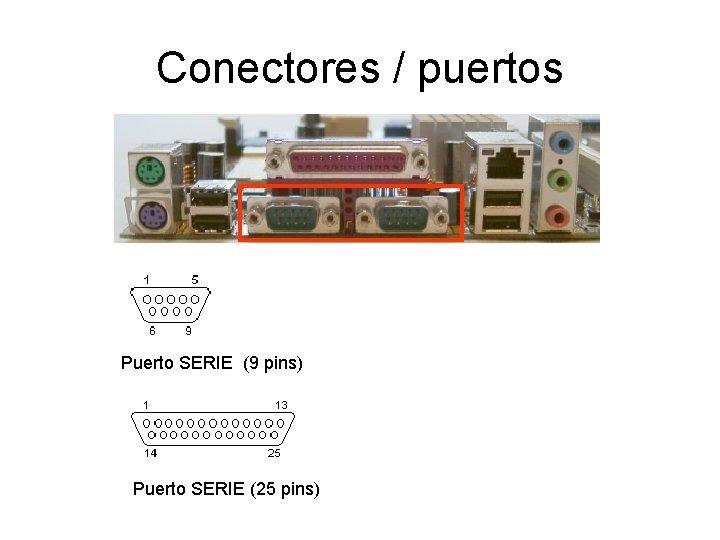Conectores / puertos Puerto SERIE (9 pins) Puerto SERIE (25 pins)