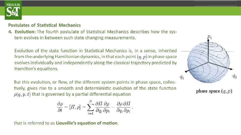 p 1 q 2 q 1 phase space (q, p)