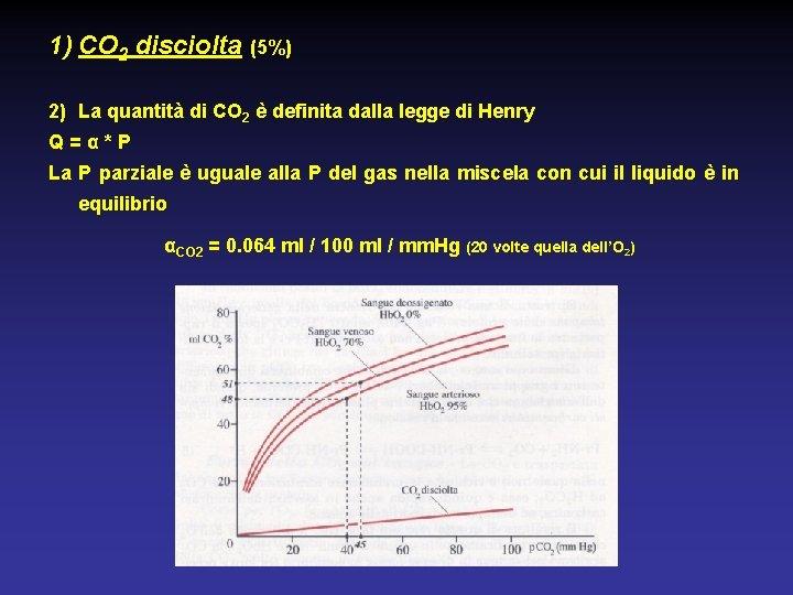 1) CO 2 disciolta (5%) 2) La quantità di CO 2 è definita dalla