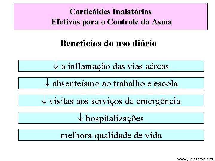 Corticóides Inalatórios Efetivos para o Controle da Asma Benefícios do uso diário a inflamação