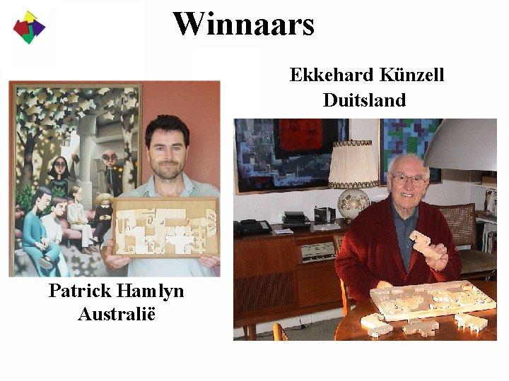 Winnaars Ekkehard Künzell Duitsland Patrick Hamlyn Australië