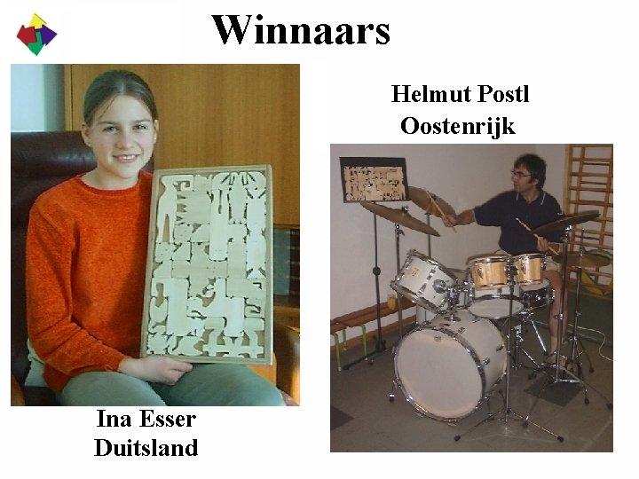 Winnaars Helmut Postl Oostenrijk Ina Esser Duitsland