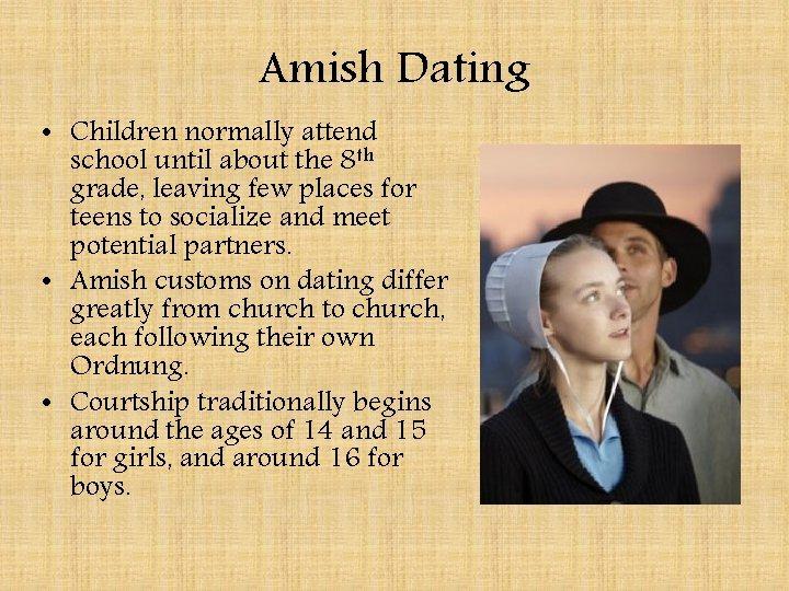 dating amish)