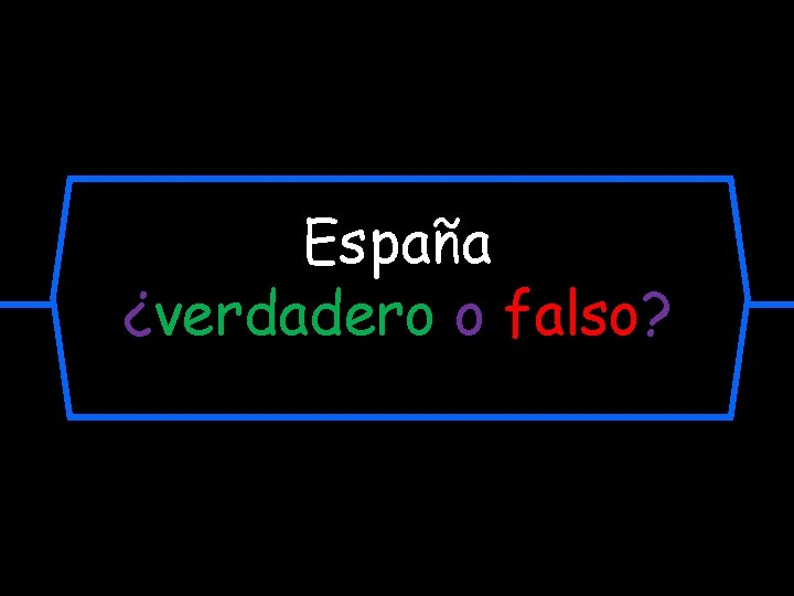 España ¿verdadero o falso?