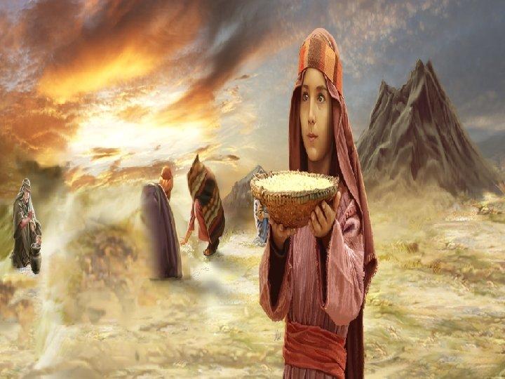 En la 1ª Lectura, Dios alimenta al Pueblo con el MANÁ. (Ex 16, 2