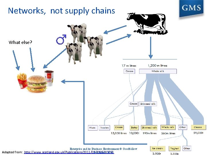 Networks, not supply chains What else? Enterprise and its Business Environment © Goodfellow Adapted
