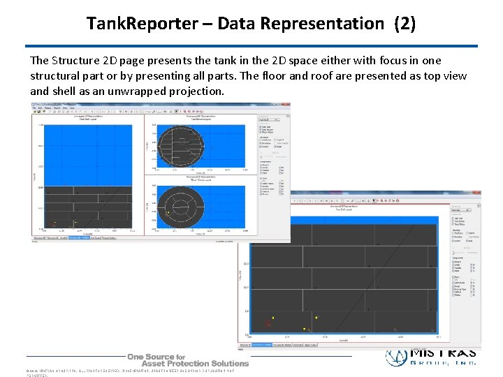 Tank. Reporter – Data Representation (2) The Structure 2 D page presents the tank
