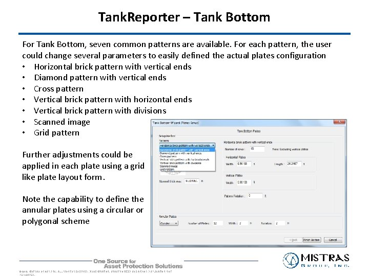 Tank. Reporter – Tank Bottom For Tank Bottom, seven common patterns are available. For