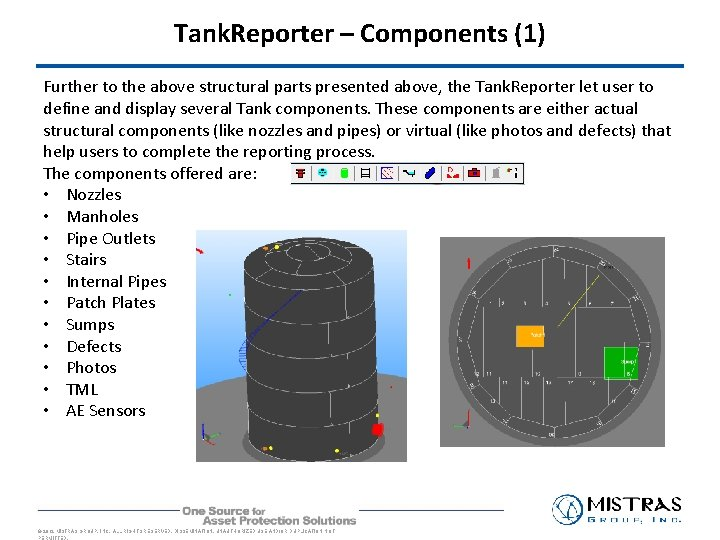 Tank. Reporter – Components (1) Further to the above structural parts presented above, the