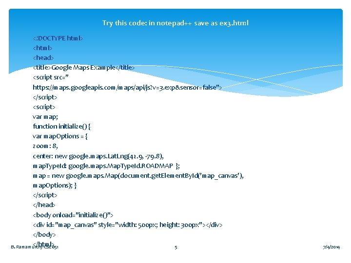 Try this code: in notepad++ save as ex 3. html <!DOCTYPE html> <head> <title>Google