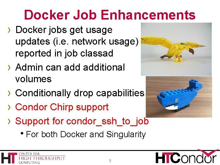 Docker Job Enhancements › Docker jobs get usage › › updates (i. e. network
