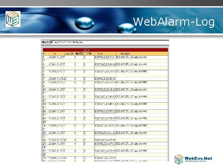 Web. Alarm-Log