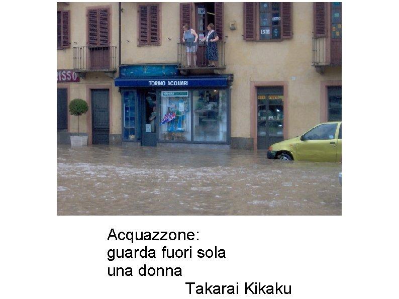 Acquazzone: guarda fuori sola una donna Takarai Kikaku