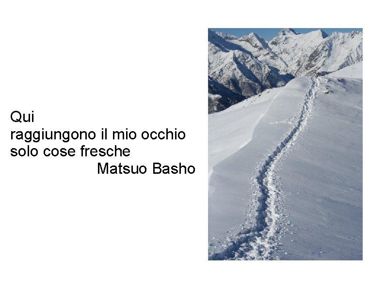 Qui raggiungono il mio occhio solo cose fresche Matsuo Basho