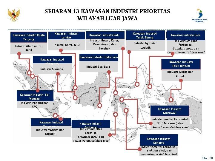 SEBARAN 13 KAWASAN INDUSTRI PRIORITAS WILAYAH LUAR JAWA Kawasan Industri Kuala Tanjung Industri Aluminium