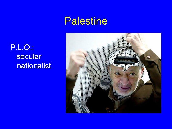 Palestine P. L. O. : secular nationalist