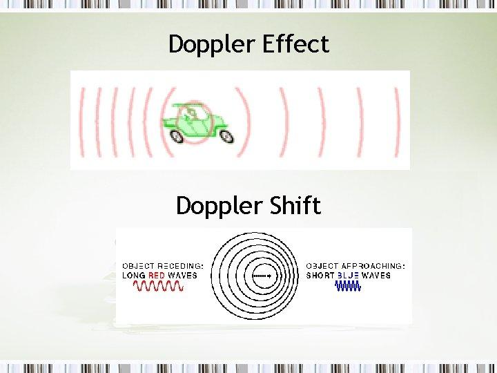 Doppler Effect Doppler Shift