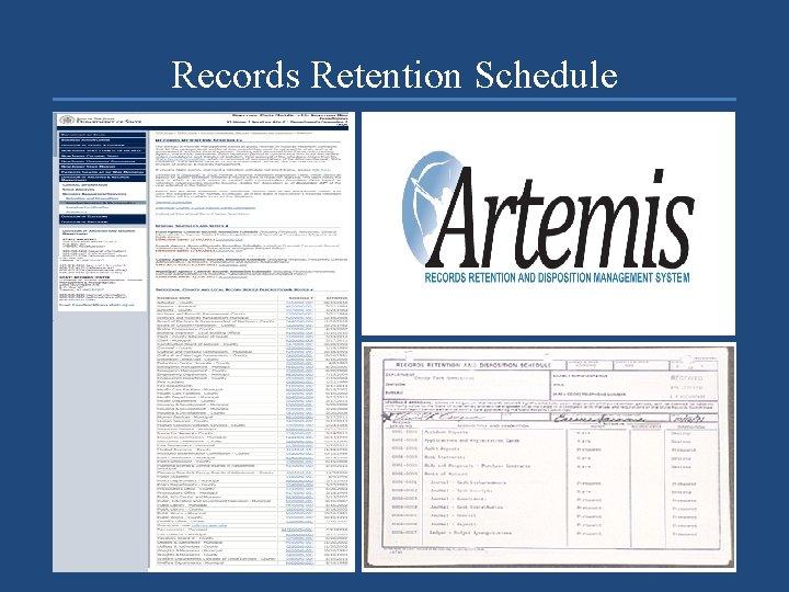 Records Retention Schedule