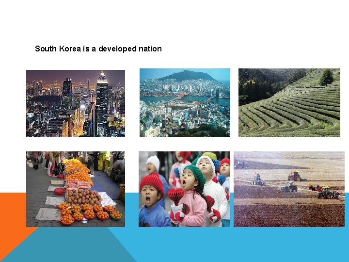 South Korea is a developed nation