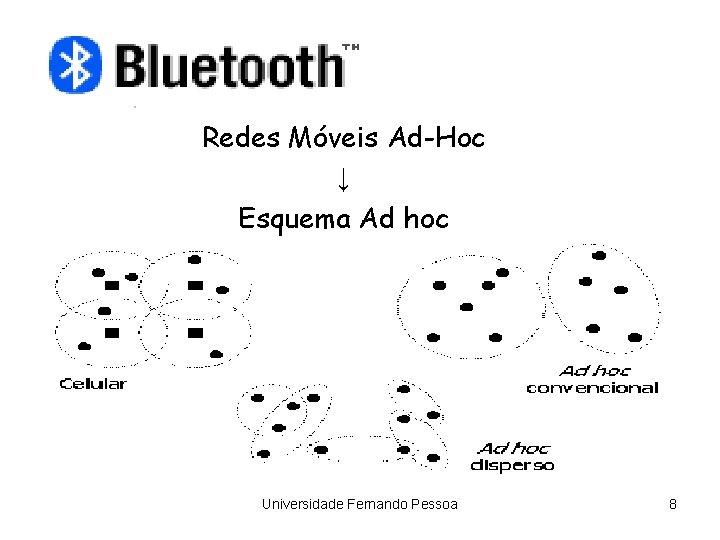 Redes Móveis Ad-Hoc ↓ Esquema Ad hoc Universidade Fernando Pessoa 8