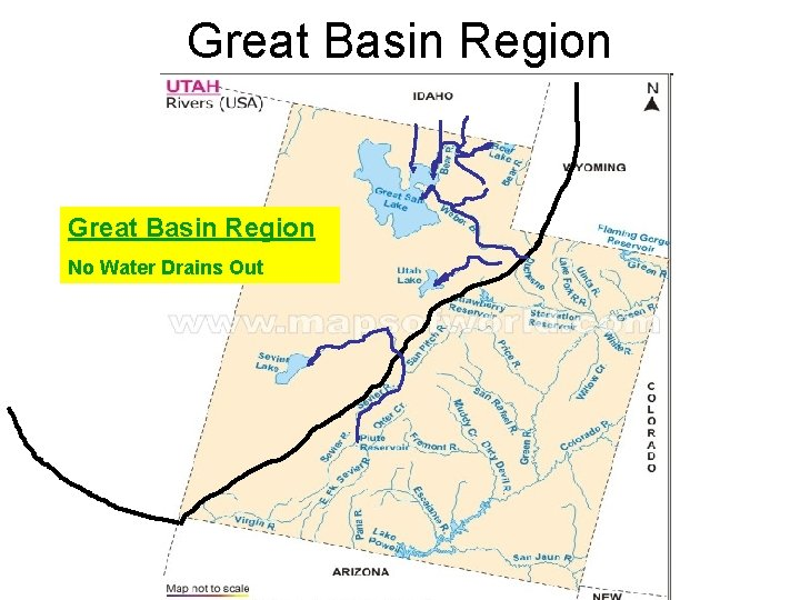 Great Basin Region No Water Drains Out