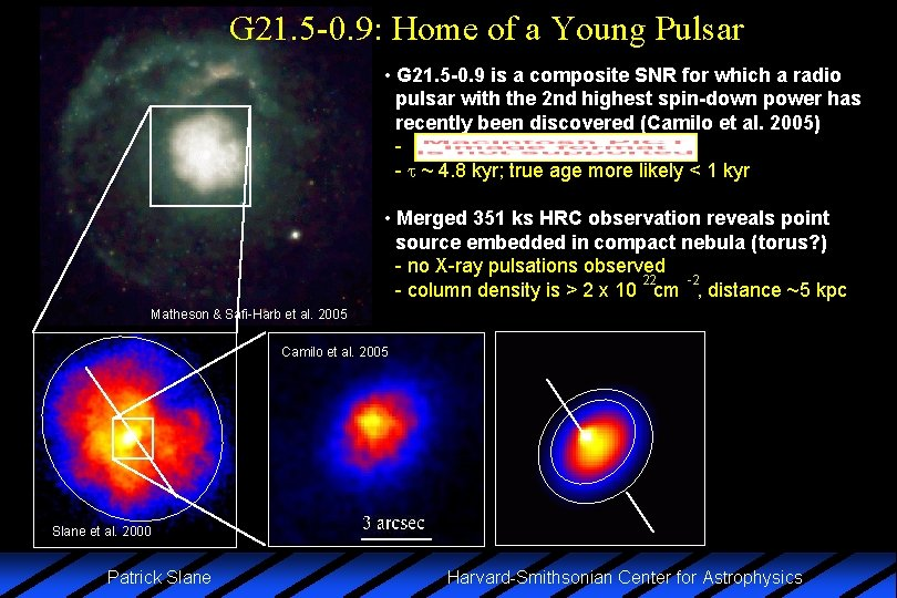 G 21. 5 -0. 9: Home of a Young Pulsar • G 21. 5