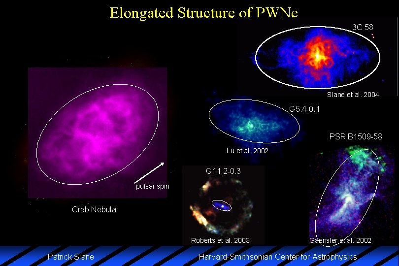 Elongated Structure of PWNe 3 C 58 Slane et al. 2004 G 5. 4