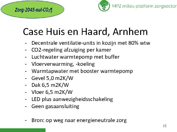 Case Huis en Haard, Arnhem - Decentrale ventilatie-units in kozijn met 80% wtw CO