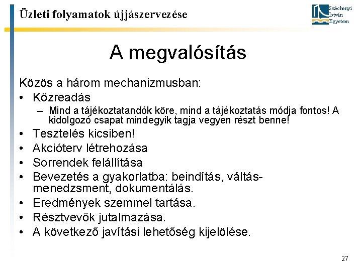 közös javítási eljárások)