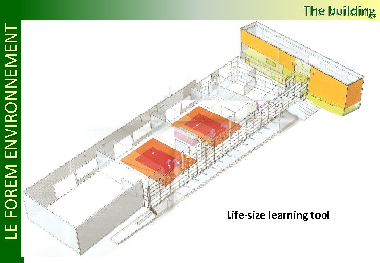 LE FOREM ENVIRONNEMENT The building Life-size learning tool