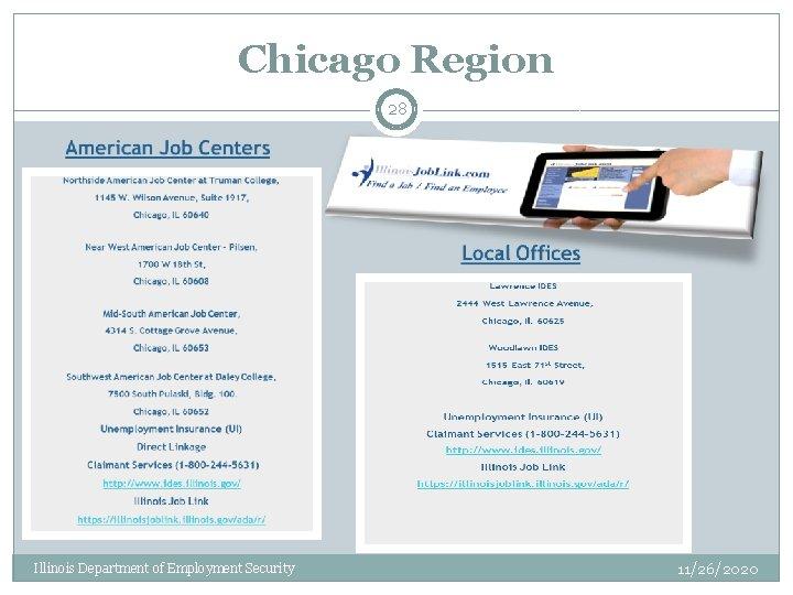 Chicago Region 28 Illinois Department of Employment Security 11/26/2020