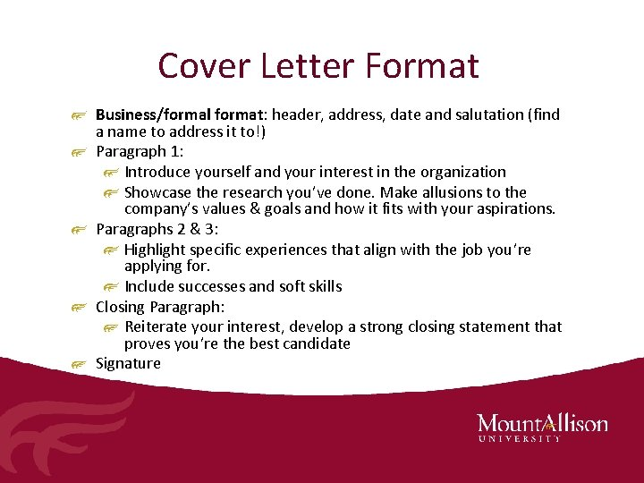 Resume Cover Letter Writing Career Services Presentation January
