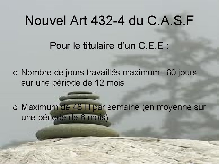 Nouvel Art 432 -4 du C. A. S. F Pour le titulaire d'un C.