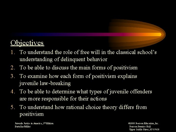 Objectives 1. To understand the role of free will in the classical school's understanding