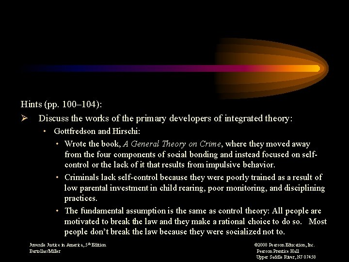 Hints (pp. 100– 104): Ø Discuss the works of the primary developers of integrated