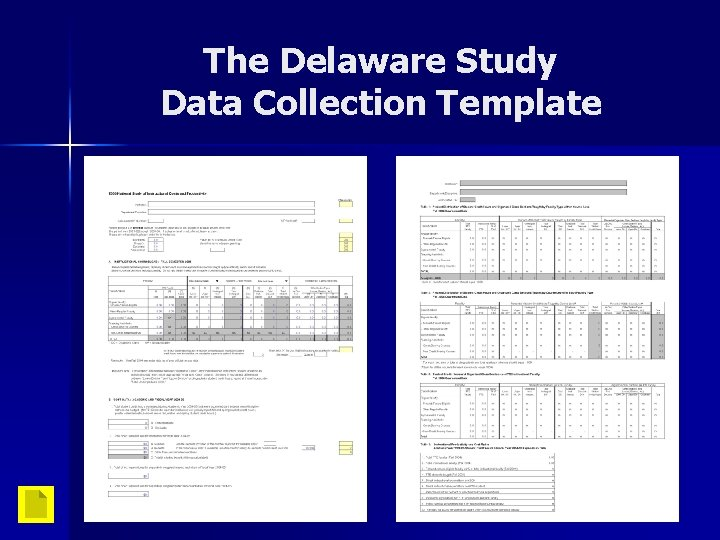 The Delaware Study Data Collection Template