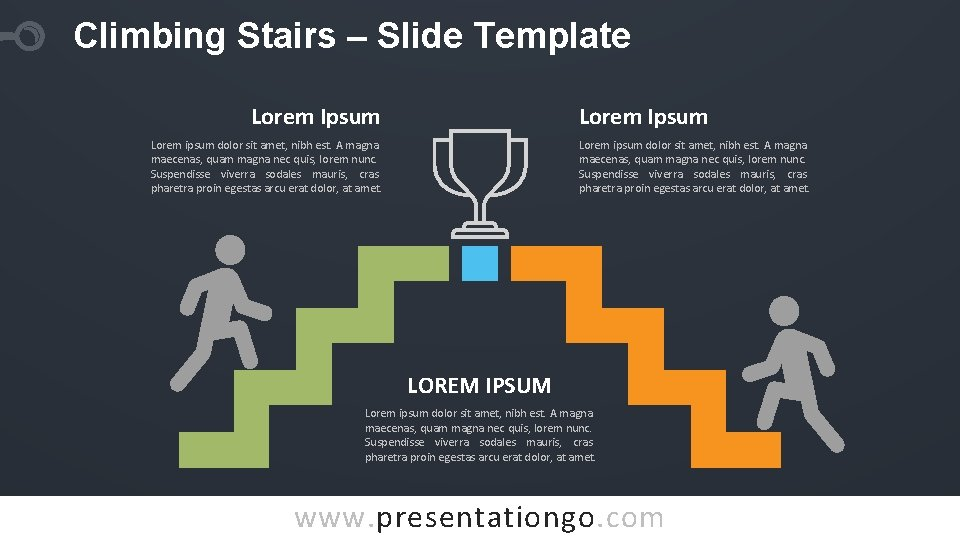 Climbing Stairs – Slide Template Lorem Ipsum Lorem ipsum dolor sit amet, nibh est.