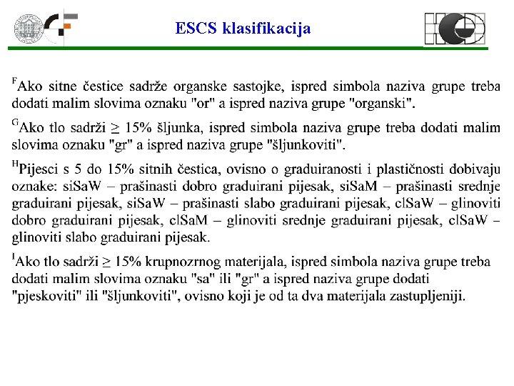 ESCS klasifikacija