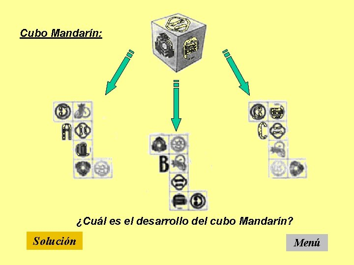 Cubo Mandarín: ¿Cuál es el desarrollo del cubo Mandarín? Solución Menú