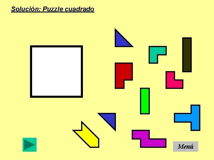 Solución: Puzzle cuadrado Menú