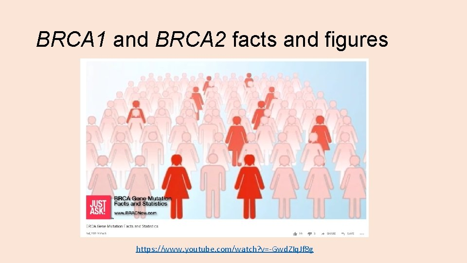 BRCA 1 and BRCA 2 facts and figures https: //www. youtube. com/watch? v=-Gwd. ZIq.