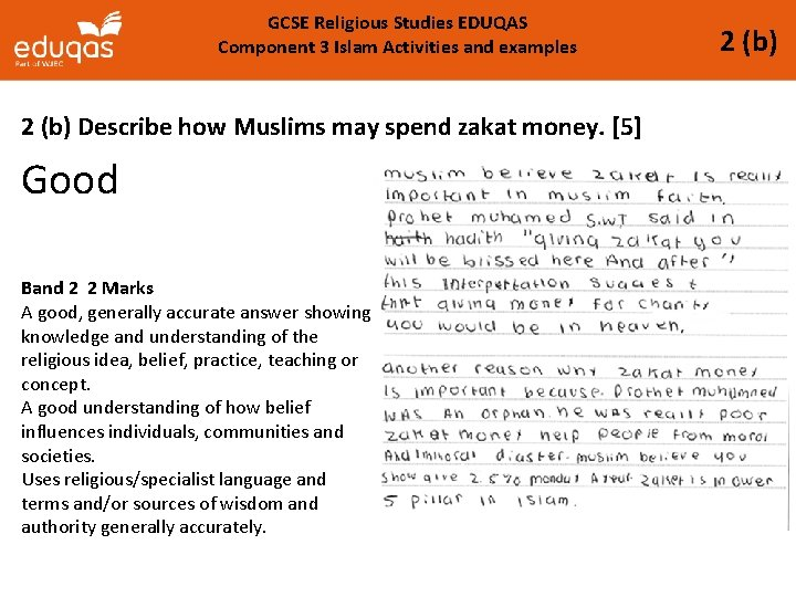 GCSE Religious Studies EDUQAS Component 3 Islam Activities and examples 2 (b) Describe how