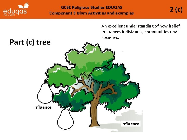 GCSE Religious Studies EDUQAS Component 3 Islam Activities and examples Part (c) tree 2